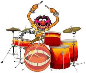 (Image) Animal from the Muppets playing drums